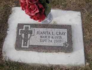 GRAY, JUANITA L. - Douglas County, Nebraska | JUANITA L. GRAY - Nebraska Gravestone Photos