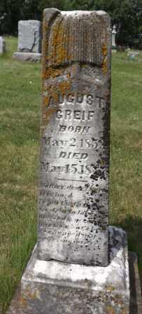 GREIF, AUGUST - Douglas County, Nebraska | AUGUST GREIF - Nebraska Gravestone Photos