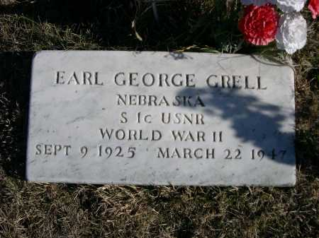 GRELL, EARL GEORGE - Douglas County, Nebraska   EARL GEORGE GRELL - Nebraska Gravestone Photos