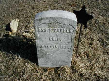 GROVER, ASHER - Douglas County, Nebraska | ASHER GROVER - Nebraska Gravestone Photos