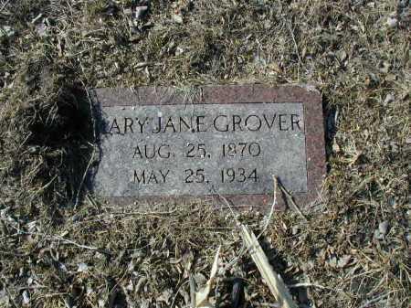 GROVER, MARY JANE - Douglas County, Nebraska | MARY JANE GROVER - Nebraska Gravestone Photos