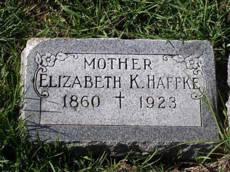HAFFKE, ELIZABETH K. - Douglas County, Nebraska | ELIZABETH K. HAFFKE - Nebraska Gravestone Photos
