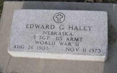 HALEY, EDWARD G. - Douglas County, Nebraska | EDWARD G. HALEY - Nebraska Gravestone Photos