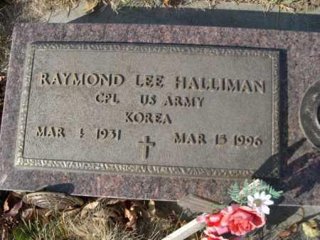 HALLIMAN, RAYMOND LEE - Douglas County, Nebraska   RAYMOND LEE HALLIMAN - Nebraska Gravestone Photos