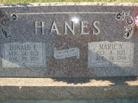 HANES, DONALD E - Douglas County, Nebraska   DONALD E HANES - Nebraska Gravestone Photos