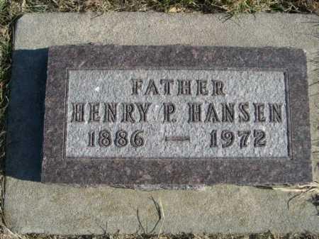 HANSEN, HENRY P. - Douglas County, Nebraska   HENRY P. HANSEN - Nebraska Gravestone Photos