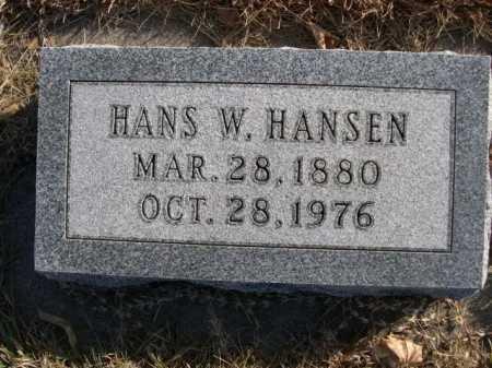 HANSEN, HANS W. - Douglas County, Nebraska   HANS W. HANSEN - Nebraska Gravestone Photos