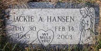 HANSEN, JACKIE A. - Douglas County, Nebraska | JACKIE A. HANSEN - Nebraska Gravestone Photos
