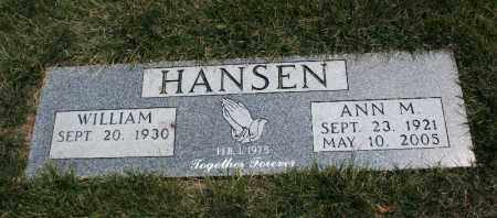 HANSEN, WILLIAM - Douglas County, Nebraska | WILLIAM HANSEN - Nebraska Gravestone Photos
