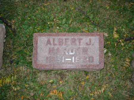 HARDER, ALBERT J - Douglas County, Nebraska | ALBERT J HARDER - Nebraska Gravestone Photos