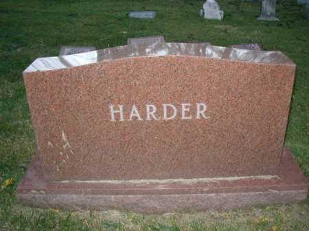 HARDER, FAMILY MARKER - Douglas County, Nebraska | FAMILY MARKER HARDER - Nebraska Gravestone Photos