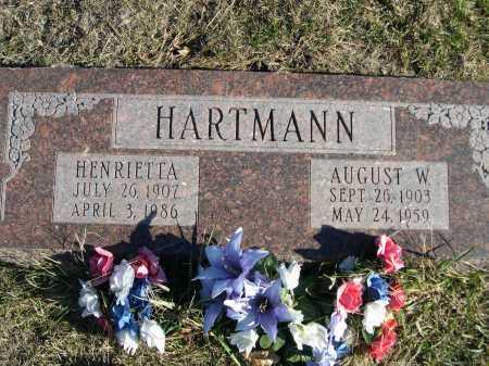 HARTMANN, AUGUST W. - Douglas County, Nebraska | AUGUST W. HARTMANN - Nebraska Gravestone Photos
