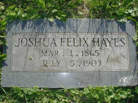 HAYES, JOSHUA FELIX - Douglas County, Nebraska | JOSHUA FELIX HAYES - Nebraska Gravestone Photos