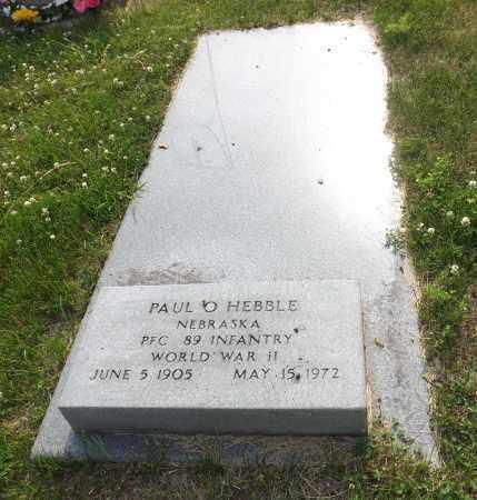HEBBLE, PAUL O. - Douglas County, Nebraska | PAUL O. HEBBLE - Nebraska Gravestone Photos