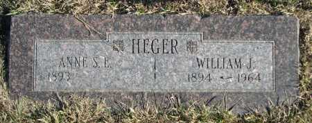 HEGER, WILLIAM J. - Douglas County, Nebraska   WILLIAM J. HEGER - Nebraska Gravestone Photos