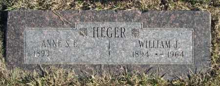 HEGER, WILLIAM J. - Douglas County, Nebraska | WILLIAM J. HEGER - Nebraska Gravestone Photos