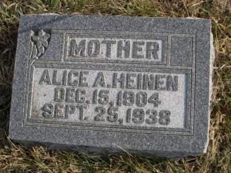 HEINEN, ALICE A - Douglas County, Nebraska | ALICE A HEINEN - Nebraska Gravestone Photos