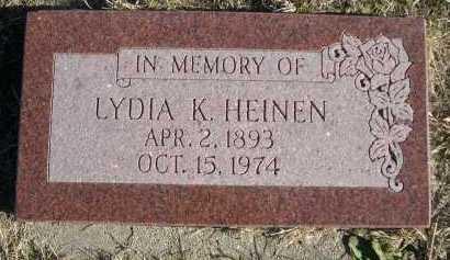 HEINEN, LYDIA K. - Douglas County, Nebraska | LYDIA K. HEINEN - Nebraska Gravestone Photos