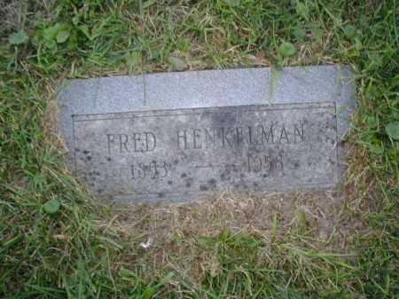 HENKELMAN, FRED - Douglas County, Nebraska | FRED HENKELMAN - Nebraska Gravestone Photos