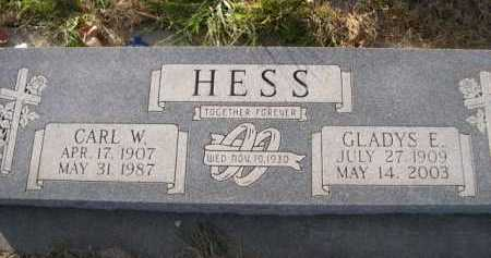 HESS, GLADYS E. - Douglas County, Nebraska   GLADYS E. HESS - Nebraska Gravestone Photos