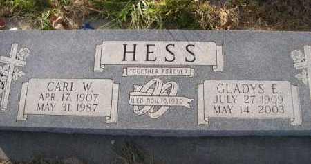 HESS, CARL W. - Douglas County, Nebraska | CARL W. HESS - Nebraska Gravestone Photos