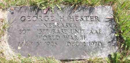 HESTER, GEORGE H. - Douglas County, Nebraska | GEORGE H. HESTER - Nebraska Gravestone Photos