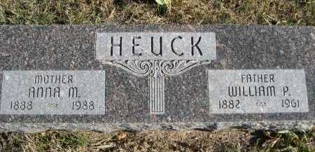 HEUCK, WILLIAM P. - Douglas County, Nebraska   WILLIAM P. HEUCK - Nebraska Gravestone Photos
