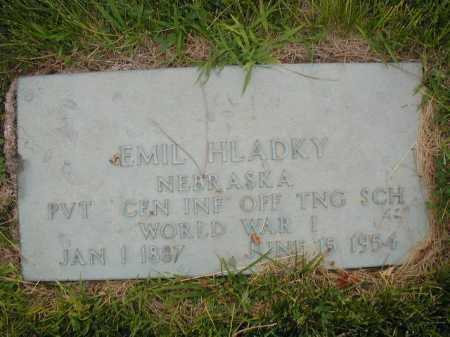 HLADKY, EMIL - Douglas County, Nebraska | EMIL HLADKY - Nebraska Gravestone Photos