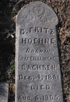 HOEHNE, G. FRITZ - Douglas County, Nebraska | G. FRITZ HOEHNE - Nebraska Gravestone Photos