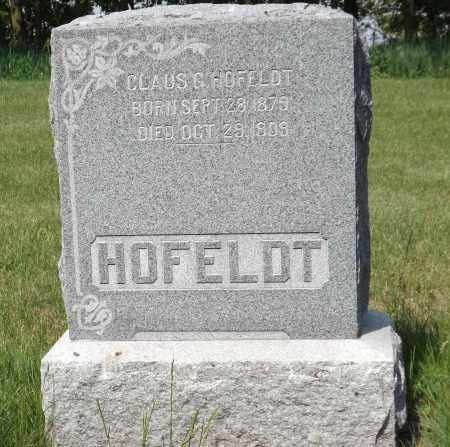 HOFELDT, CLAUS G. - Douglas County, Nebraska | CLAUS G. HOFELDT - Nebraska Gravestone Photos