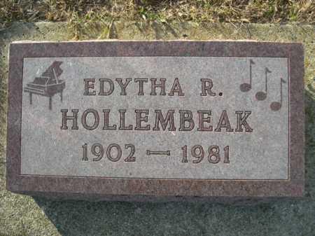 HOLLEMBEAK, EDYTHA R. - Douglas County, Nebraska | EDYTHA R. HOLLEMBEAK - Nebraska Gravestone Photos