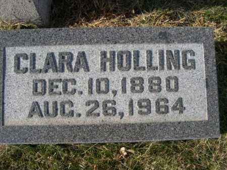 HOLLING, CLARA - Douglas County, Nebraska   CLARA HOLLING - Nebraska Gravestone Photos