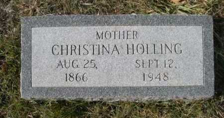HOLLING, CHRISTINA - Douglas County, Nebraska | CHRISTINA HOLLING - Nebraska Gravestone Photos