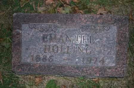 HOLLING, EMANUEL - Douglas County, Nebraska | EMANUEL HOLLING - Nebraska Gravestone Photos