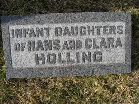 HOLLING, INFANT DAUGHTERS OF HANS AND CLARA - Douglas County, Nebraska | INFANT DAUGHTERS OF HANS AND CLARA HOLLING - Nebraska Gravestone Photos