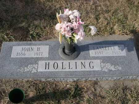 HOLLING, LASSETTA F. - Douglas County, Nebraska | LASSETTA F. HOLLING - Nebraska Gravestone Photos