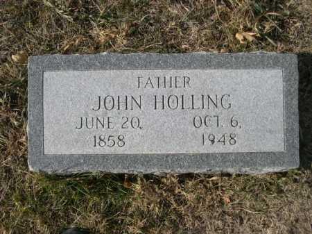 HOLLING, JOHN - Douglas County, Nebraska | JOHN HOLLING - Nebraska Gravestone Photos