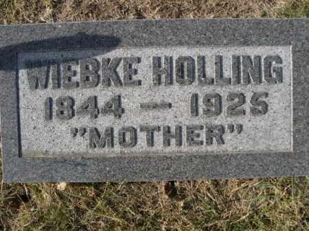 HOLLING, WIEBKE - Douglas County, Nebraska | WIEBKE HOLLING - Nebraska Gravestone Photos