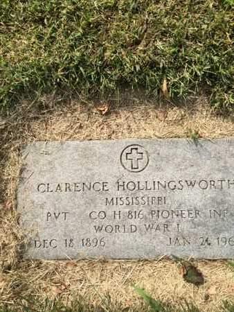 HOLLINGSWORTH, CLARENCE - Douglas County, Nebraska | CLARENCE HOLLINGSWORTH - Nebraska Gravestone Photos