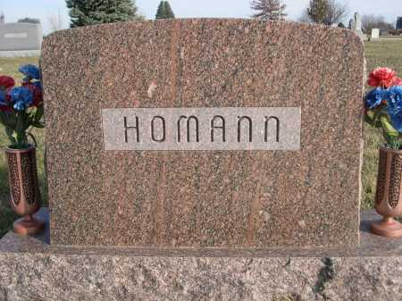 HOMANN, FAMILY - Douglas County, Nebraska | FAMILY HOMANN - Nebraska Gravestone Photos