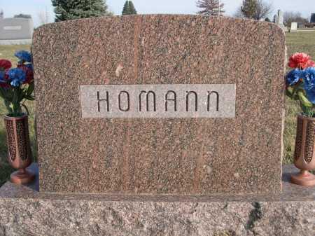 HOMANN, FAMILY - Douglas County, Nebraska   FAMILY HOMANN - Nebraska Gravestone Photos
