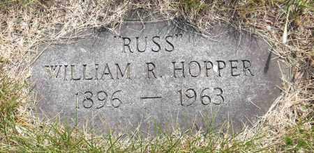 HOPPER, WILLIAM R. (RUSS) - Douglas County, Nebraska | WILLIAM R. (RUSS) HOPPER - Nebraska Gravestone Photos