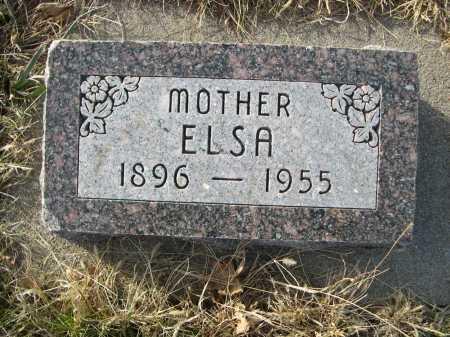 HOMANN, ELSA - Douglas County, Nebraska   ELSA HOMANN - Nebraska Gravestone Photos