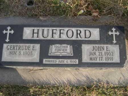 HUFFORD, JOHN E. - Douglas County, Nebraska | JOHN E. HUFFORD - Nebraska Gravestone Photos