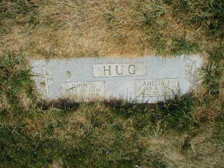 HUG, AMELIA P - Douglas County, Nebraska   AMELIA P HUG - Nebraska Gravestone Photos