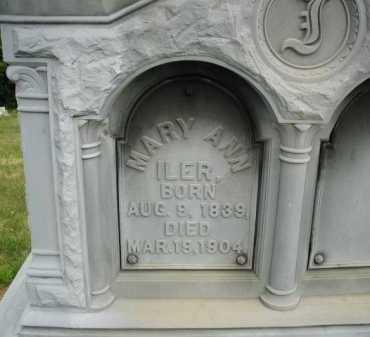 DENZER ILER, MARY ANN - Douglas County, Nebraska | MARY ANN DENZER ILER - Nebraska Gravestone Photos