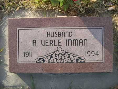 INMAN, A. VERLE - Douglas County, Nebraska   A. VERLE INMAN - Nebraska Gravestone Photos