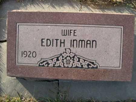 INMAN, EDITH - Douglas County, Nebraska | EDITH INMAN - Nebraska Gravestone Photos