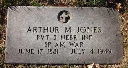 JONES, ARTHUR M. - Douglas County, Nebraska | ARTHUR M. JONES - Nebraska Gravestone Photos
