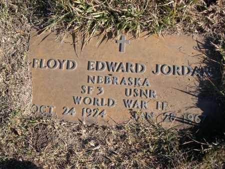 JORDAN, FLOYD EDWARD - Douglas County, Nebraska | FLOYD EDWARD JORDAN - Nebraska Gravestone Photos
